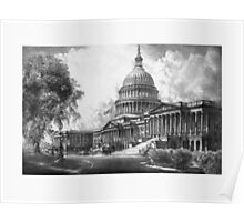 United States Capitol Building Poster