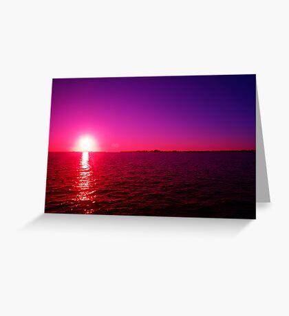 Cool Sun Greeting Card