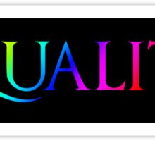 Equality  Sticker