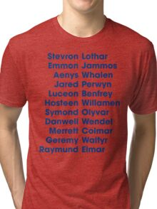 The 22 Trueborn sons of Walder Frey Tri-blend T-Shirt