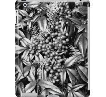 B/W Leaves and Berries  iPad Case/Skin