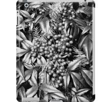 B/W Leaves and Berries  iPad Case/Skin