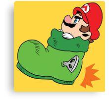 Super Mario - Goomba's Shoe Canvas Print