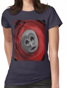 blood mask Womens Fitted T-Shirt