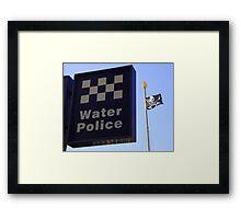 Water Police???? Framed Print