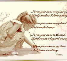 I WROTE YOUR NAME IN MY HEART by Jael