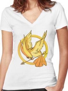 Pokegames Women's Fitted V-Neck T-Shirt