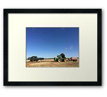 Blue Sky Harvest Framed Print