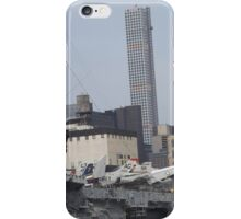 View of 432 Park Avenue Skyscraper, USS Intrepid Air and Space Museum, New York City  iPhone Case/Skin