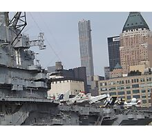 View of 432 Park Avenue Skyscraper, USS Intrepid Air and Space Museum, New York City  Photographic Print