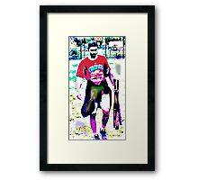 Lavendar Legs Framed Print