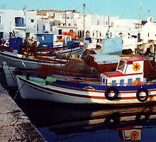 Noussa Harbour by John Douglas