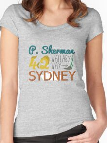 P. Sherman 42 Wallaby Way Sydney Women's Fitted Scoop T-Shirt
