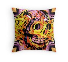 Skull V Throw Pillow