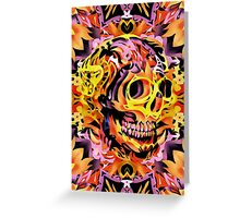 Skull V Greeting Card