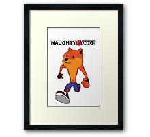 Naughty Doge 2 Framed Print