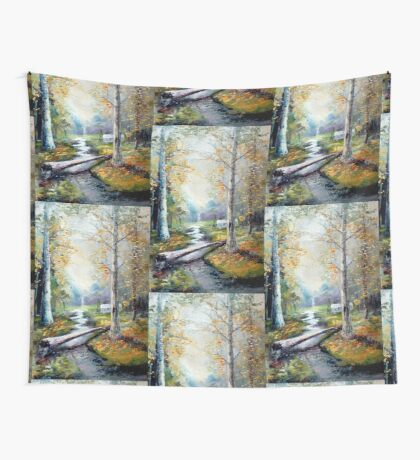 Leaving the Woodland Creek Wall Tapestry
