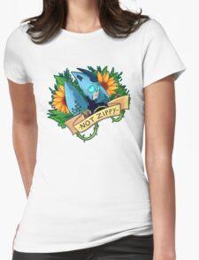 Sunflower Blurr Womens Fitted T-Shirt