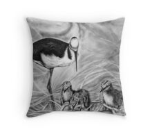 Minding the Triplets Throw Pillow
