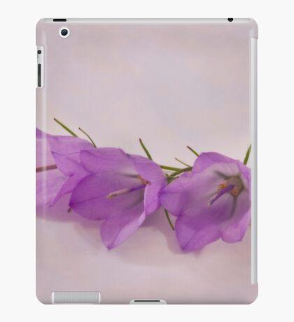 Three Wild Campanella Blossoms - Macro iPad Case/Skin