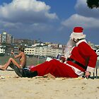 Father Christmas visits Bondi Beach by Brian McInerney