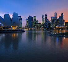 Marina Bay, Singapore. by Ralph de Zilva
