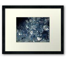 The Hidden Land - Blue Chasm Framed Print