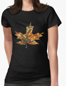 Fall Leaf Womens Fitted T-Shirt