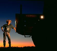 farmer at sunset by Brian McInerney