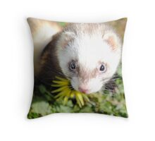 Little Sapphire Throw Pillow