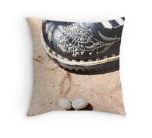"""The dangers of being so small"" Throw Pillow"