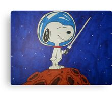 Snoopy In Space Canvas Print