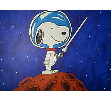 Snoopy In Space Photographic Print