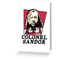 Colonel Sandor Greeting Card