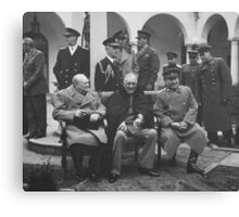 The Big Three During The Yalta Conference Canvas Print