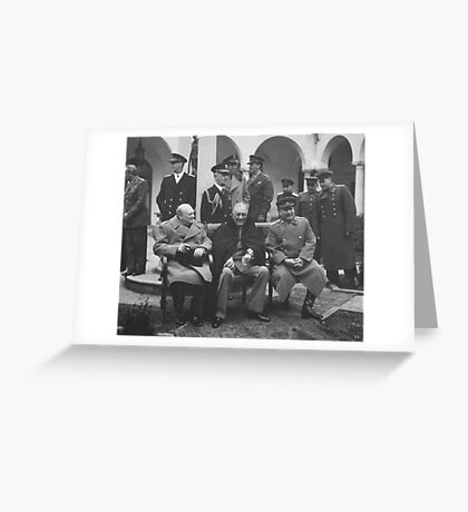The Big Three During The Yalta Conference Greeting Card
