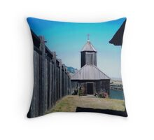 A Church in Fort Ross, Nothern California, 2007 Throw Pillow