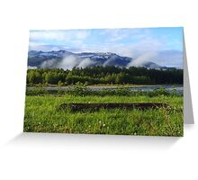 Serenity at the River's Edge Greeting Card