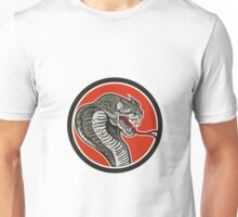 Cobra Viper Snake Circle Retro Unisex T-Shirt