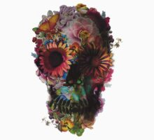 Floral Skull Kids Clothes