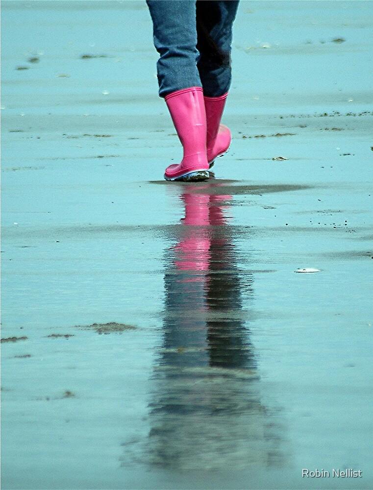 Pink Wellies by Robin Nellist