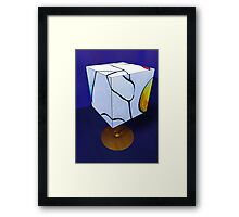 Primary Figures Cubed by Marilyn Brown Facilitated Framed Print