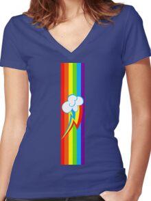 Dashie Mark Women's Fitted V-Neck T-Shirt
