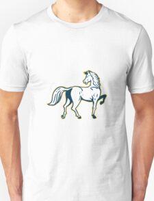 Horse Prancing Rear View Retro T-Shirt