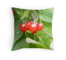 Berry Red Berries! Throw Pillow