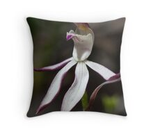 Stegostyla gracilis Musky Caladenia Orchid Christmas Hills 20091005 2754 Throw Pillow
