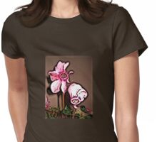 Cyclamen Whimsy Womens Fitted T-Shirt
