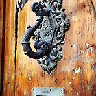 Door Knocker at Barri Gotic by Carlos Lorenzo