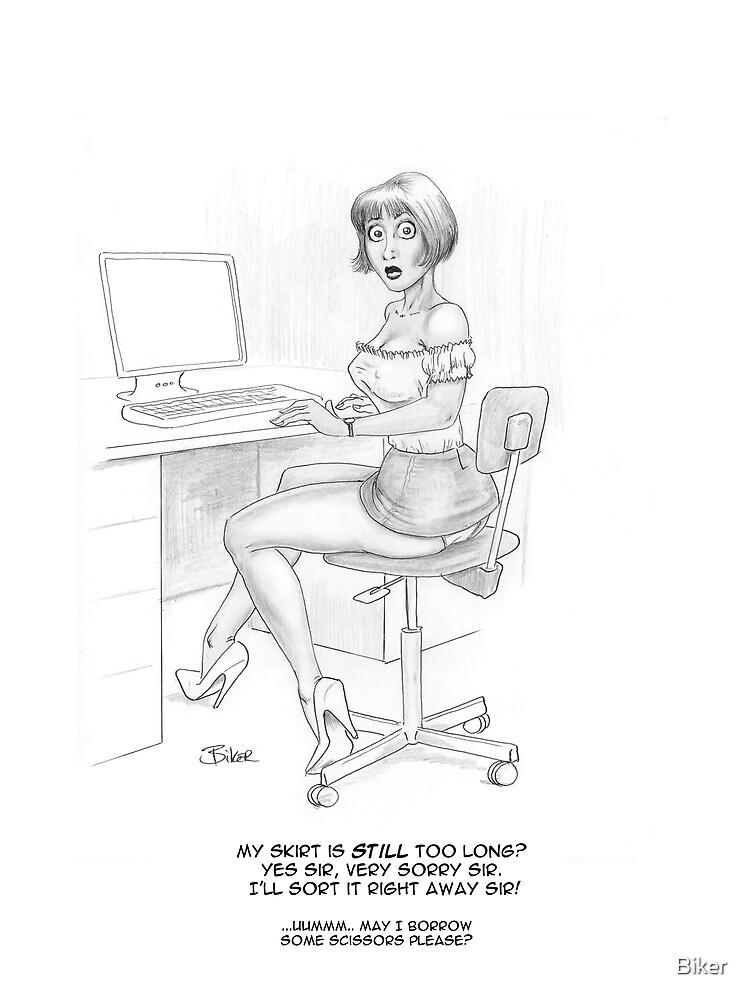 Office intimidation by Biker