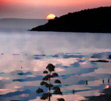 Sunset over Binigaus Sticker
